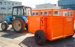 Тележка трап для перевозки скота ТТ-2С